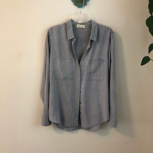 Anthropologie Cloth & Stone gray top large